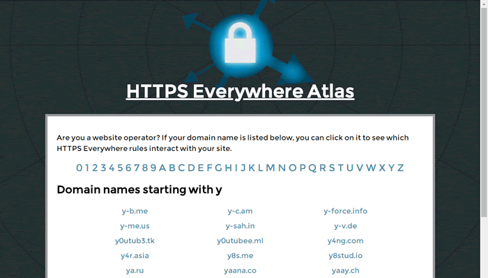 HTTPS Everywhere Atlas