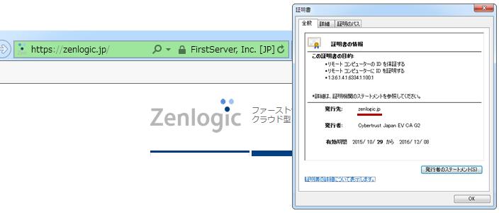 (図3)SSLサーバー証明書/サイト運営者の確認