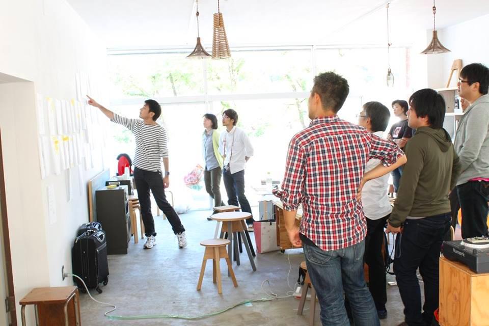 主催のIAMAS 小林先生 と ディスカッションの風景